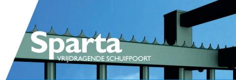 Sparta - Vrijdragende schuifpoort
